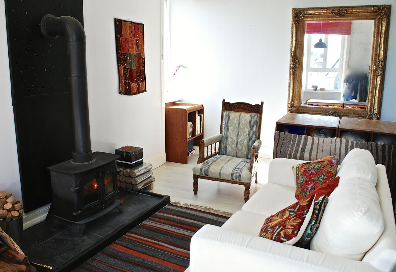 a Living room fireside looking NE